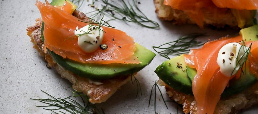 Crispy Sushi Rice with Smoked Salmon & Avocado
